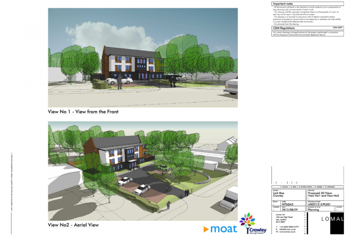 Lark Rise Phase 1, Crawley - Planning
