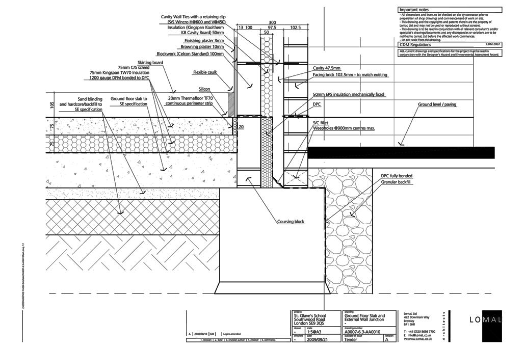 St Olave's Prep School, London - First Floor Extension - Construction