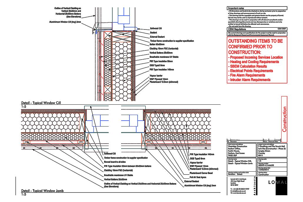 Lark Rise Phase 2, Crawley - Construction