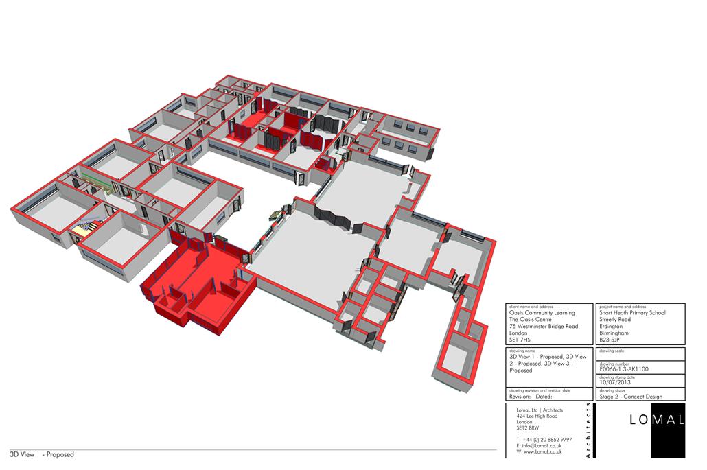 Oasis Academy Short Heath Primary School, Birmingham – Space Remodelling - BIM